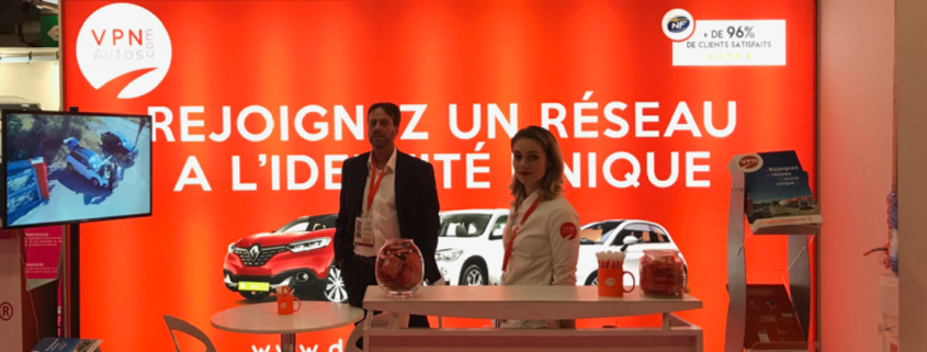 Le stand VPN Autos au salon de la franchise 2018