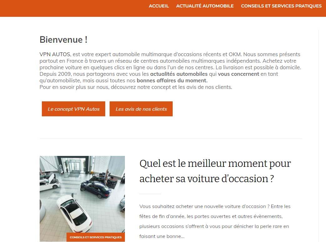 Le blog de VPN Auto fait partie des stratégies de marketing digital utilisée par l'entreprise