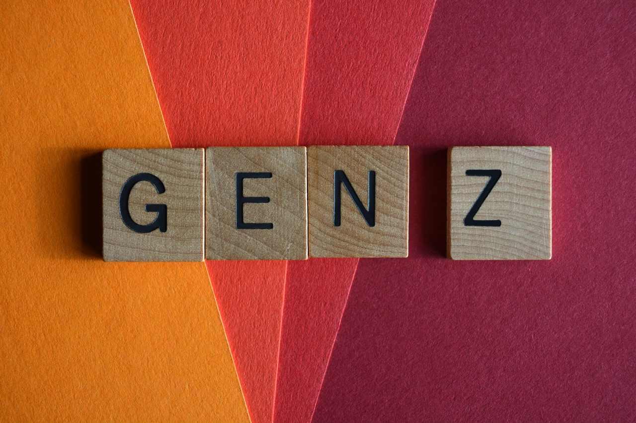 Photo illustrant le concept de génération Z