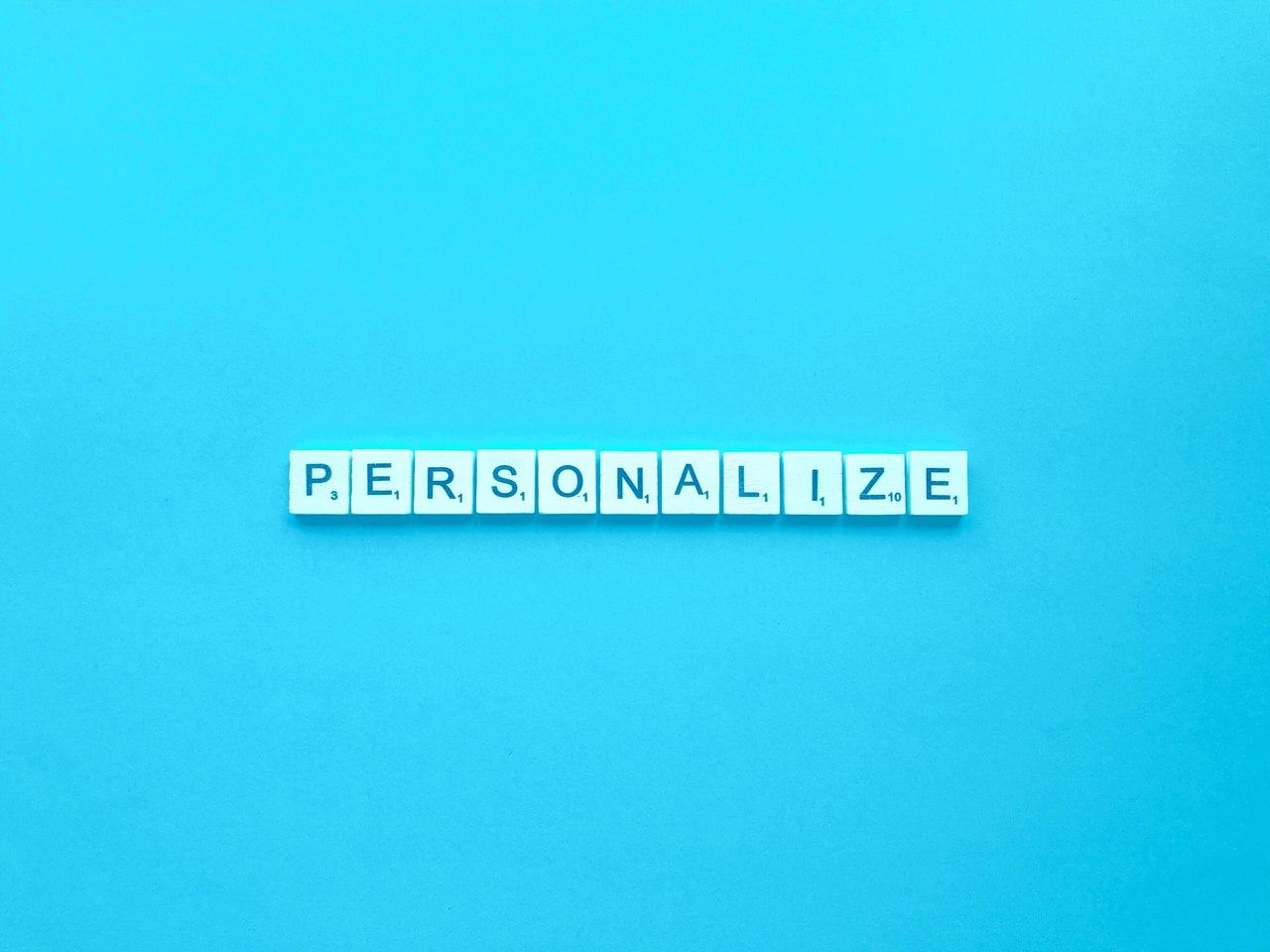 Visuel de la personnalisation