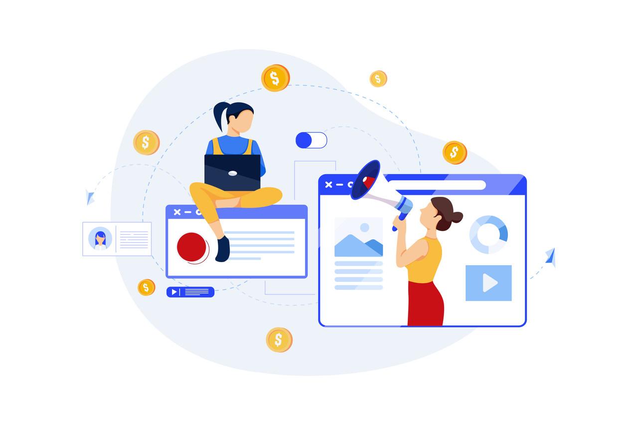 Illustration du concept de marketing digital
