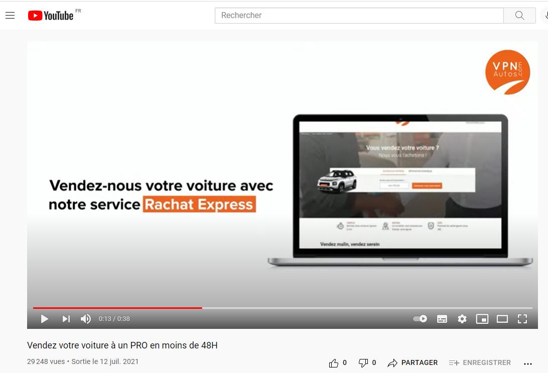 La chaîne YouTube de VPN Autos pour illustrer la stratégie du marketing vidéo